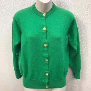 Vintage Auth Burberry 100% Merino Wool Cardigan